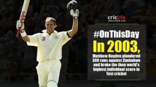 Matthew Hayden bulldozed his way to 380