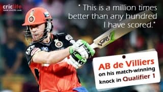 AB de Villiers rates his knock against Gujarat Lions higher than any hundred he has scored