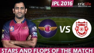 IPL 2016: Rising Pune Supergiants beat Kings XI Punjab by 4 wickets at Visakhapatnam, Stars and Flops