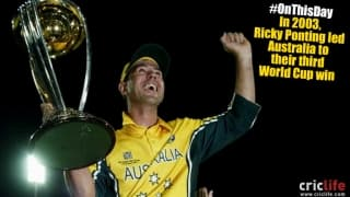 ICC Cricket World Cup 2003: Ricky Ponting on top of the World