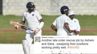 Ravichandran Ashwin, Wriddhiman Saha get a pat on the back from Twitterati for their rescue act