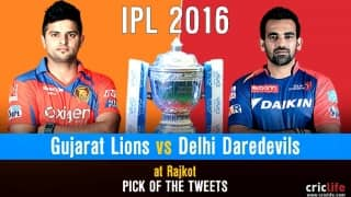 IPL 2016, Match 31, Pick of the tweets:  Gujarat Lions vs Delhi Daredevils at Rajkot