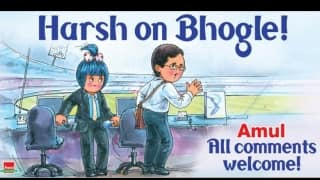 Amul's sarcastic take on Harsha Bhogle's axing from the com box