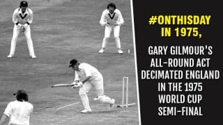 Gary Gilmour's 6 for 14, match-winning innings took Australia into World Cup 1975 final