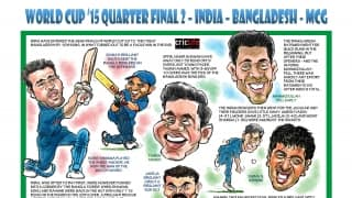 ICC Cricket World Cup 2015: India vs Bangladesh, second quarter-final in Melbourne in caricatures
