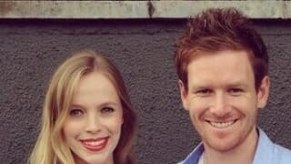 Eoin Morgan with his girlfriend Tara Ridgway