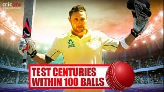 Infographics: Brendon McCullum and others who scored Test tons in under 100 balls multiple times