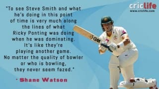 Shane Watson compares Steve Smith to Ricky Ponting