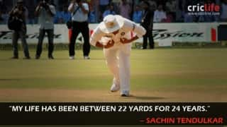 Sachin Tendulkar: Thanking the 22 yards