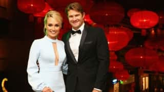 Shane Watson and wife Lee Watson wish each other on their sixth marriage anniversary