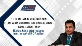 Denied the honour of handing over the ICC World Cup 2015 winners' trophy, Mustafa Kamal resigns as ICC President