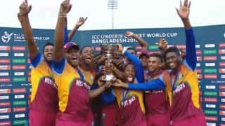 Video: West Indies' winning moment in ICC Under-19 Cricket World Cup final 2016