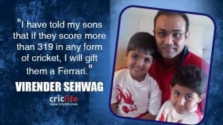 Virender Sehwag to gift his sons Ferrari if they go past his 319