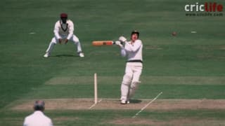 Cricket World Cup 1983: Australia's Graham Wood hit by Malcolm Marshall's bouncer
