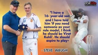 Steve Waugh envisages his son to be like Virat Kohli