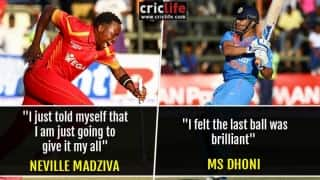 What MS Dhoni and Neville Madziva had to say about the