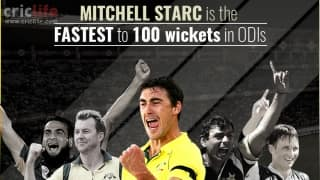 Infographic: Mitchell Starc breaks Saqlain Mushtaq's 19-year-old record; becomes fastest to 100 ODI wickets