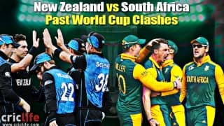 ICC Cricket World Cup 2015: New Zealand vs South Africa in past World Cup matches