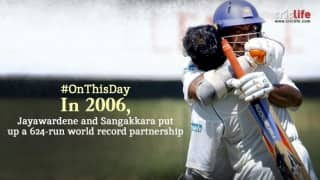 The marathon stand of 624 runs by Mahela Jayawardene and Kumar Sangakarra!