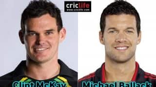 Clint McKay and Michael Ballack