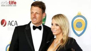 James Pattinson with stunning Kayla Dickson