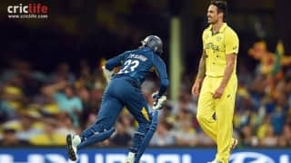 ICC World Cup 2015: Tillakaratne Dilshan rips apart Mitchell Johnson for 4, 4, 4, 4, 4, 4