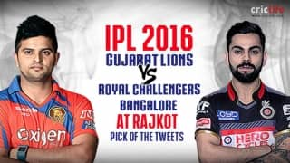 IPL 2016, Match 19, Pick of the tweets: Gujarat Lions vs Royal Challengers Bangalore at Rajkot
