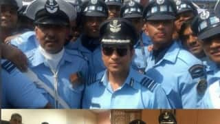 Sachin Tendulkar celebrates Indian Air Force Day
