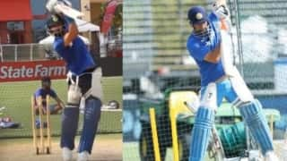 Watch Virat Kohli, MS Dhoni sweat it out in the nets in Florida