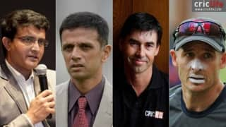 Ganguly, Dravid, Hussey and Fleming among ideal candidates to succeed Fletcher