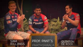 Hilarious: 'Delhi Daredevils' Quinton de Kock, Sam Billings take Hindi lessons from Rishabh Pant