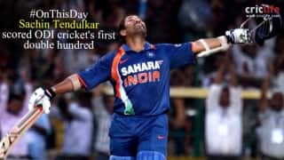 When Sachin Tendulkar scored ODI's first double hundred