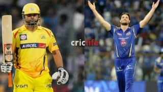CSK will hope Suresh Raina to get over the Mitchell McClenaghan hurdle