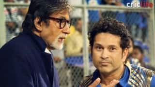 When two legends met at Wankhede Stadium