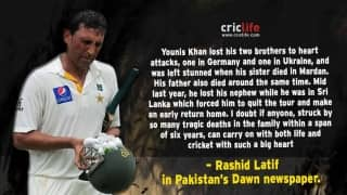 Rashid Latif hails Younis Khan for overcoming life's tragedies and emerging as the winner