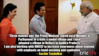 Sachin Tendulkar responds to PM Narendra Modi's call to create model village