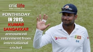 When Kumar Sangakkara announced his international retirement
