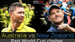 ICC World Cup 2015: New Zealand vs Australia in past World Cup matches