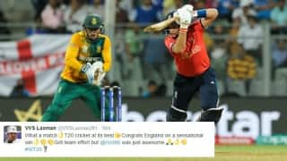 England-South Africa ICC World T20 2016 clash sets Twitter abuzz; cricket fraternity hails England's record chase