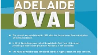 Facts about the picturesque Adelaide Oval