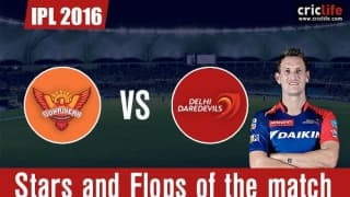 IPL 2016: Delhi Daredevils beat Sunrisers Hyderabad by 7 wickets, Stars and Flops