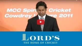 Sangakkara's Spirit of Cricket Lecture in 2011