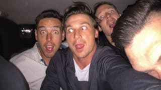 Dale Steyn and colleagues celebrate their win with a 'taxi selfie'