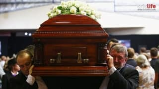 Phil Hughes funeral: A heart-breaking moment