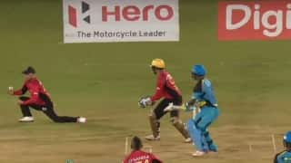 Video: Brendon McCullum pulls off a stunner at slip to dismiss Johnson Charles