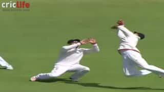 Joe Root takes a spectacular catch at fourth slip to send back Josh Hazlewood