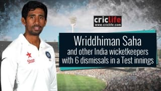 Wriddhiman Saha joins the elite club of '6′ alongside MS Dhoni and Syed Kirmani