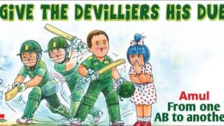 Amul's new topical a tribute to AB de Villiers!