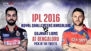 IPL 2016, Match 44, Pick of the tweets: Royal Challengers Bangalore vs Gujarat Lions at Bengaluru