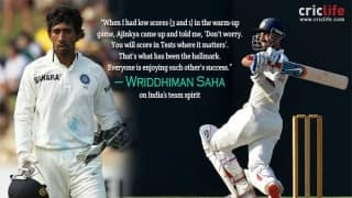 How Ajinkya Rahane helped Wriddhiman Saha get over the practice game disappointment!